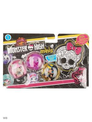 Мини фигурки в ассортименте 3 шт. Monster High. Цвет: желтый