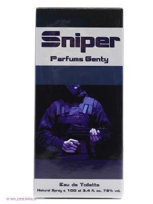 Туалетная вода SNIPER EDT 100 ML SPRAY PARFUMS GENTY. Цвет: прозрачный
