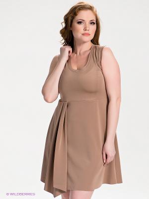 Платье SISTE'S. Цвет: темно-бежевый
