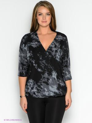 Блузка JUNAROSE. Цвет: темно-серый, черный