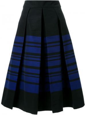 Плиссированная юбка Martin Grant. Цвет: чёрный