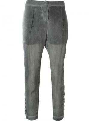Полупрозрачные брюки Lost & Found Ria Dunn. Цвет: серый
