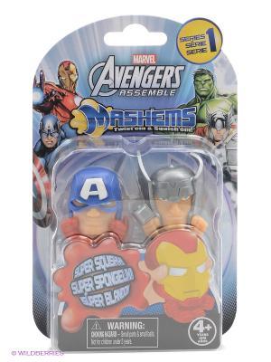 Детская игрушка Марвел Мстители, игрушки-мялки, 2 шт. в наборе Marvel. Цвет: синий, красный