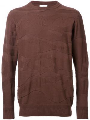 Толстовка с камуфляжной текстурой Hbns. Цвет: коричневый
