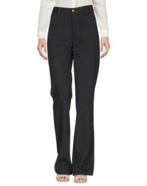 Повседневные брюки SWILDENS. Цвет: стальной серый