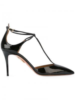 Туфли с заостренным носком Aquazzura. Цвет: чёрный