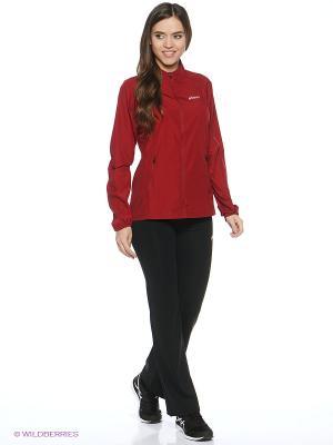 Куртка Woven Jacket ASICS. Цвет: темно-красный