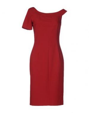 Платье до колена TENAX. Цвет: красно-коричневый