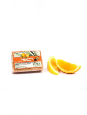 Натуральное оливковое мыло с апельсином Rizes Crete. Цвет: оранжевый
