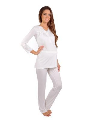 Пижама MamaLine. Цвет: молочный