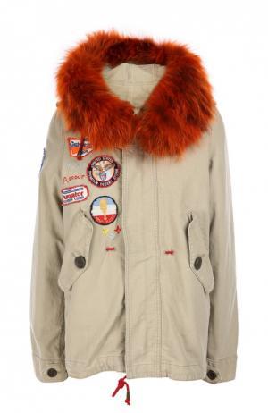 Куртка с капюшоном History Repeats by Femme. Цвет: хаки