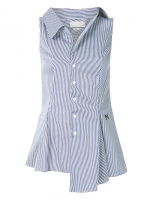 Расклешенная рубашка без рукавов Monse. Цвет: синий
