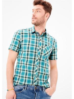 Рубашка S.OLIVER. Цвет: бирюзовый, белый, светло-зеленый