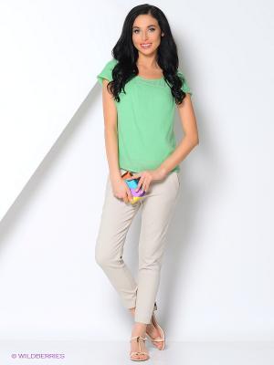 Блузка KEY FASHION. Цвет: светло-зеленый