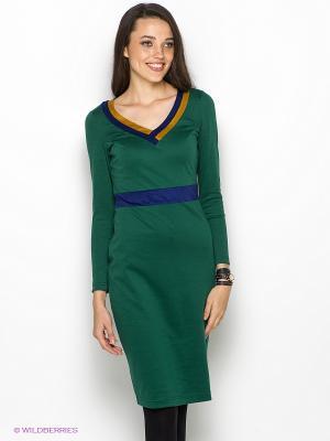 Платье DOCTOR E. Цвет: темно-зеленый, горчичный, темно-синий