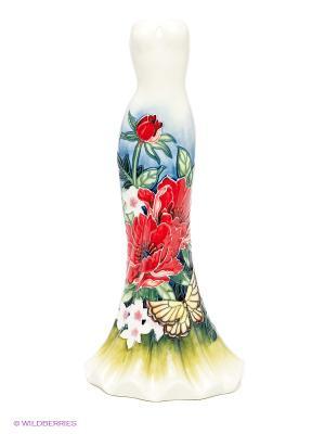 Ваза Платье Pavone. Цвет: молочный, зеленый
