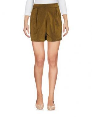 Повседневные шорты JIJIL. Цвет: зеленый-милитари