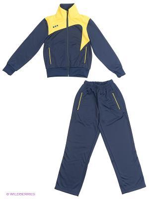 Спортивный костюм ADDIC. Цвет: темно-синий, желтый