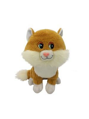 Котенок Лапушка бежевый, озвученный, 22 см(MP-HH-R8997E) MAXITOYS. Цвет: белый, бежевый
