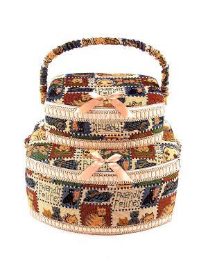 Набор шкатулок для рукоделия из 2-х шт. Русские подарки. Цвет: бежевый, коричневый