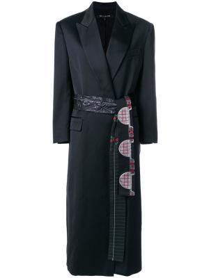 Пальто строгого кроя с декорированным поясом Ter Et Bantine. Цвет: чёрный
