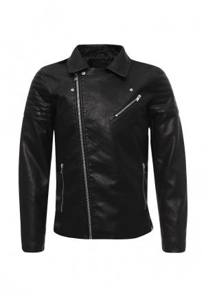 Куртка кожаная Only & Sons. Цвет: черный