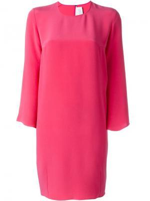 Платье с расклешенными рукавами Gianluca Capannolo. Цвет: розовый и фиолетовый
