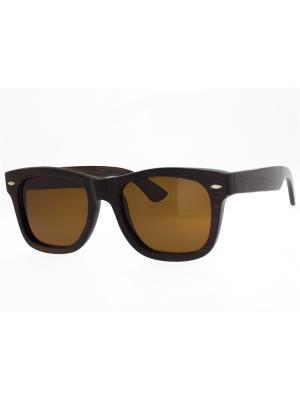 Очки TM0036-B-13-B BAMBOO TEHMODA. Цвет: темно-коричневый