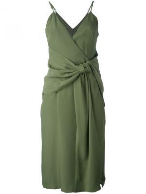 Присборенное платье C/Meo. Цвет: зелёный