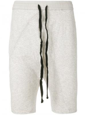 Укороченные шорты с заниженной проймой Thom Krom. Цвет: серый