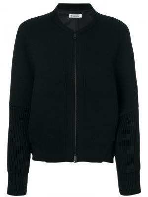 Куртка на молнии Jil Sander. Цвет: чёрный