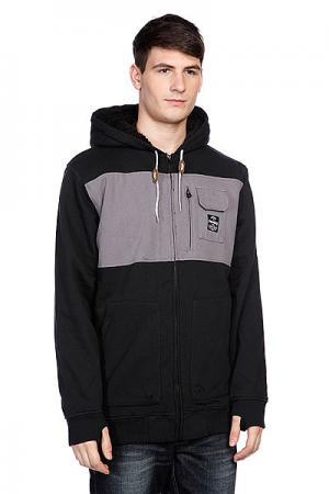 Куртка зимняя  Bureau Flzp True Black Analog. Цвет: серый,черный