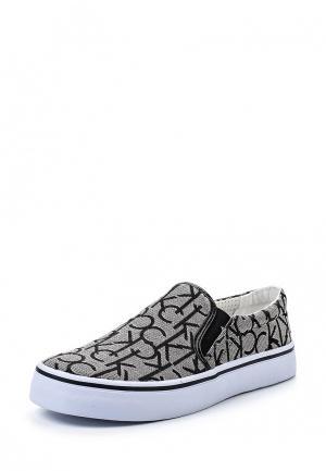 Слипоны Calvin Klein Jeans. Цвет: серый