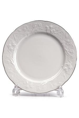 Набор тарелок 26 см, 4 шт La Rose des Sables. Цвет: белый, серебряный