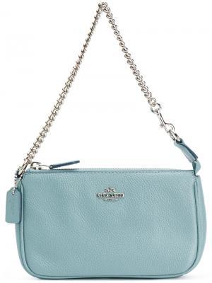 Nolita wristlet clutch Coach. Цвет: серый