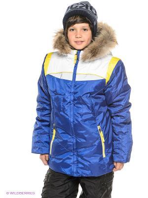 Куртка BOOM. Цвет: синий, темно-серый, желтый, белый