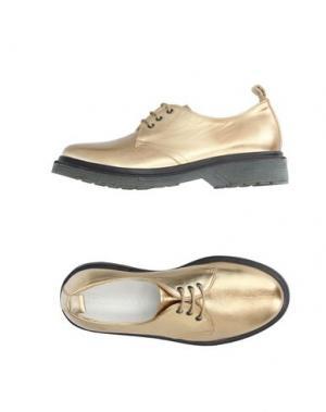 Обувь на шнурках LE QARANT. Цвет: золотистый