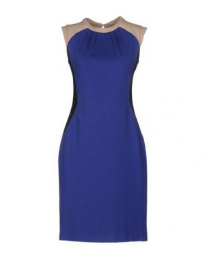 Платье до колена LALTRAMODA. Цвет: темно-синий