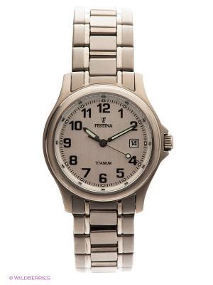 Часы Festina CALENDARIO TITANIUM. Цвет: серебристый