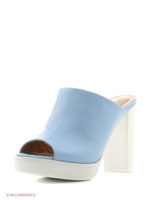 Сабо El Tempo. Цвет: серо-голубой, голубой, серебристый