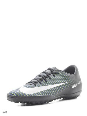 Бутсы MERCURIALX VICTORY VI TF Nike. Цвет: черный