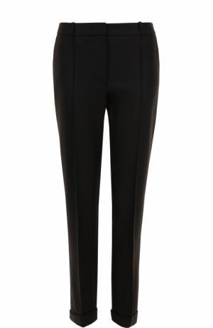 Укороченные брюки прямого кроя со стрелками BOSS. Цвет: черный
