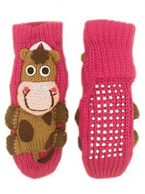 Детские носки-тапочки HOBBY LINE. Цвет: фуксия