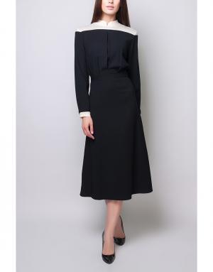 Платье с контрастными элементами Poustovit. Цвет: черный, белый