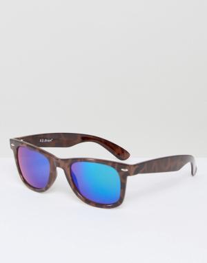 AJ Morgan Солнцезащитные очки в прямоугольной оправе Traction. Цвет: коричневый