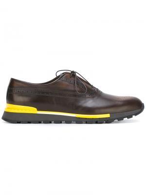 Туфли со шнуровкой Berluti. Цвет: коричневый