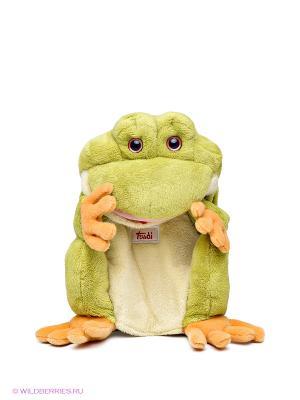 Лягушка TRUDI. Цвет: зеленый, светло-коричневый