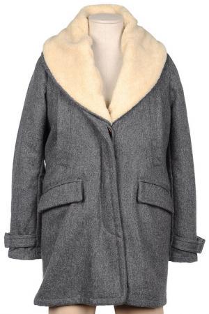Пальто SESSUN. Цвет: серый