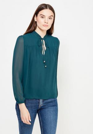 Блуза oodji. Цвет: зеленый