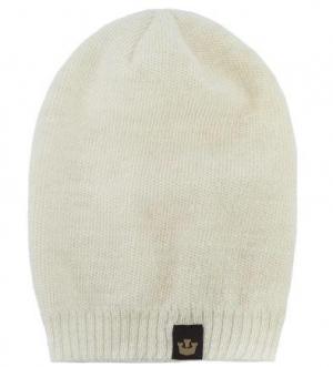 Вязаная шапка из акрила молочного цвета Goorin Bros.. Цвет: молочный